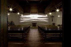 Lichtbildinstallation Pfarre Hagenberg 1